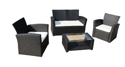 Del Mar Collection 4pc Outdoor Wicker Furniture Set