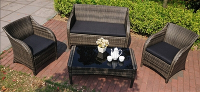 Mission Hills Collection 4pc Outdoor Wicker Patio