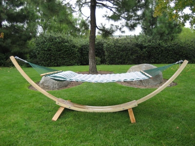 alternative views  wooden arc cypress hammock stand  rh   southmissiononline