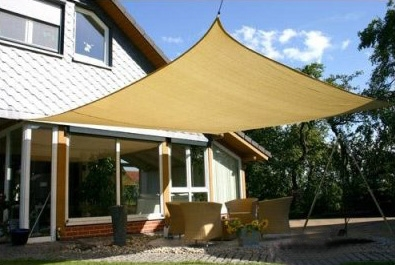 Heavy Duty Water Proof Rectangle Shade Sail Canopy Home Garden Shading Sand 3 x